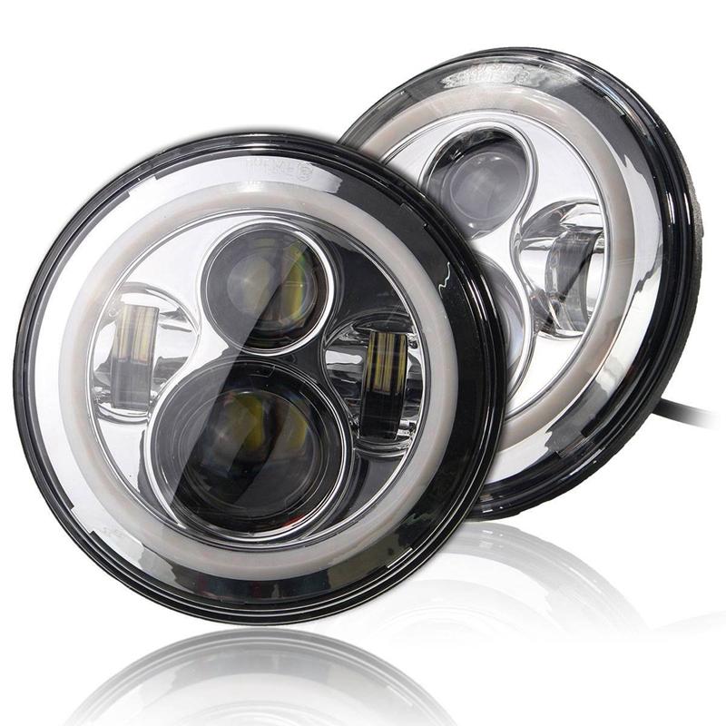 Marlaa For Lada 4x4 urban Niva UAZ Hunter 7 Round Hi&Lo LED Headlight for Jeep Wrangler JK TJ CJ Patrol GR Y60 Hummer H2