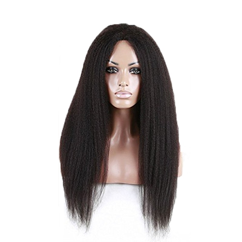 full head synthetic lace front kinky curl wig