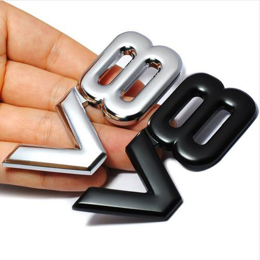 Dsycar 3D Metal V8 Engine Display Car Sticker Emblem Badge For Jeep BMW Ford Volvo Nissan Mazda Audi Honda Toyota Lada Chevrolet car floor mats covers free shipping 5d for toyota honda for nissan hyundai buick for ford audi benz for bmw car etc styling