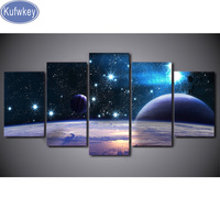 5 PCS Space earth Diamond Embroidery sale Drawings 5D diy Diamond painting cross stitch kits,Mosaic diamond living room decor