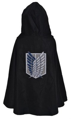 Anime Attack On Titan Cloak Shingeki no Kyojin Scouting Legion Eren Levi Cloak Cape Halloween Unisex Cosplay Green Cape Clothes in Movie TV costumes from Novelty Special Use