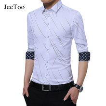 Neue Mode Lässig Männer Langarm-shirt Business Slim Fit Striped Shirt Männer Hohe Qualität Mens Dress Shirts Männer Plus Größe 5XL