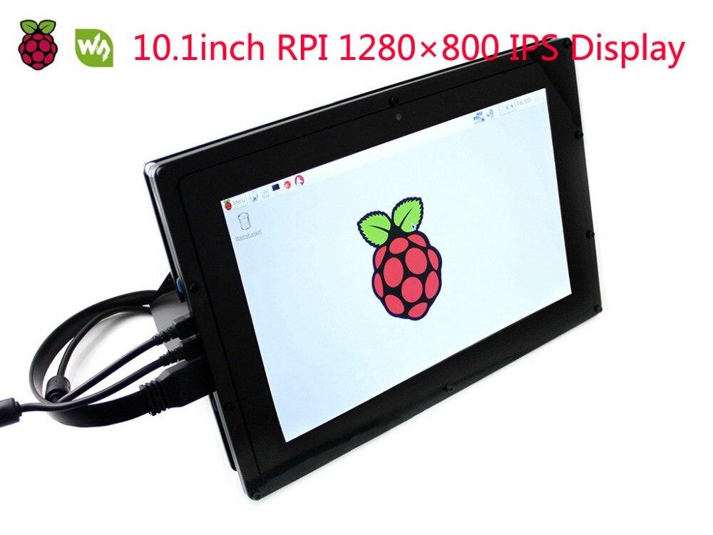 Wavseshare 10.1 pouces HDMI LCD (B) (avec étui) moniteur 1280*800 IPS écran tactile capacitif pour Raspberry Pi, banane Pi, BB noir