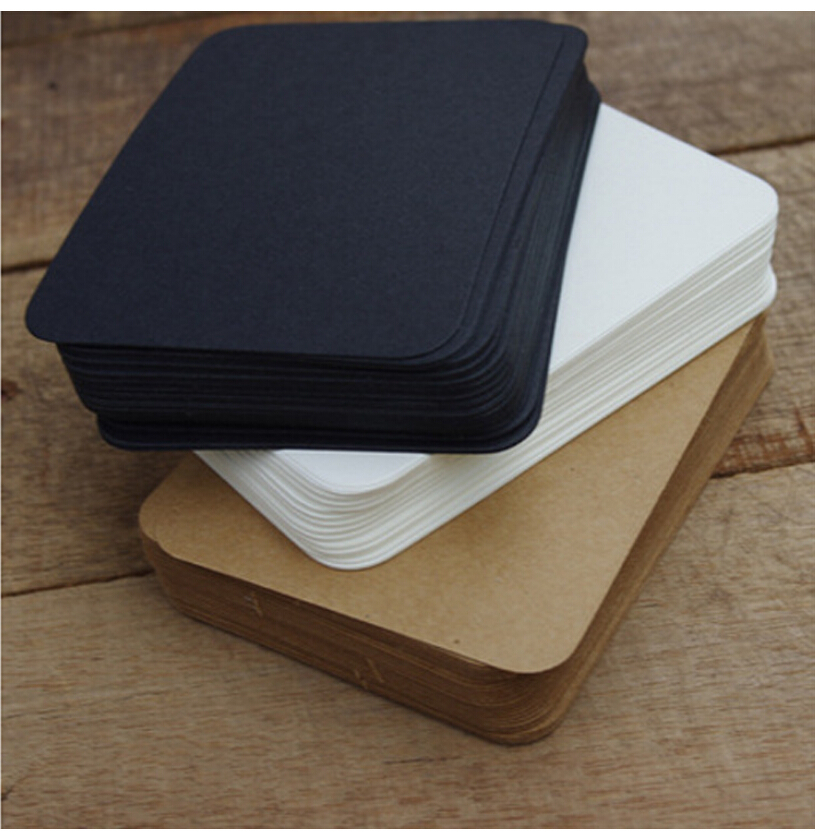 20pcs/lot Cute Black White Kraft Paper Memo Pad Note Pads Colored Words Leave Message Cards Planner Stickers For Students Gifts