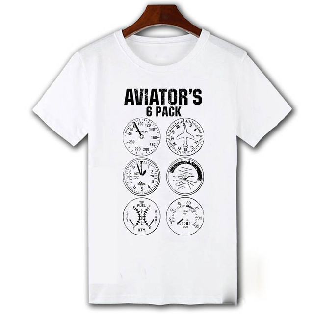 d51955feb Aviator Six Pack T Shirt Funny Pilot Travel Humor Vacation Flight Novelty  Mens T-shirt Camiseta Homme Cool Tops Tee Shirts