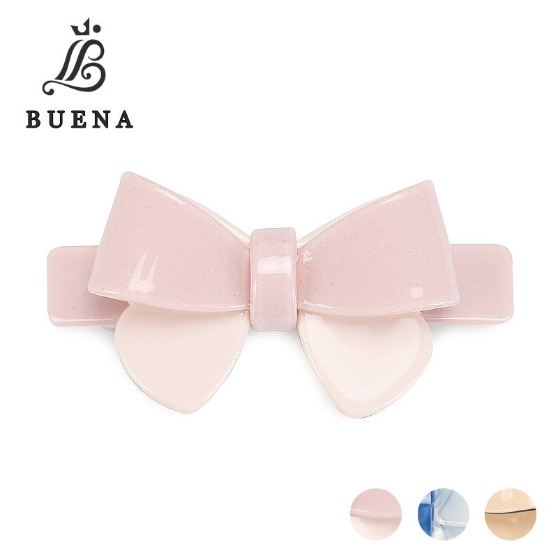 Elegant Pink Bowknot Barrette French Acetate Hair Clip Big And Small Size FREE SHIPPING SA18