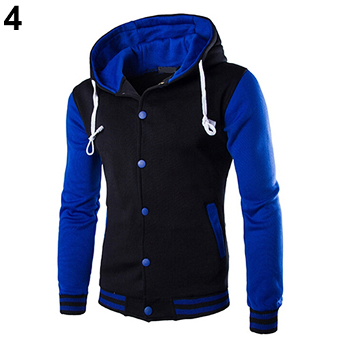 Men Fashion Slim Fit Hoodies Sweatershirt Baseball Jacket Casual Coat OutwearFemmes camisa chemise camicia Mujer Clothes