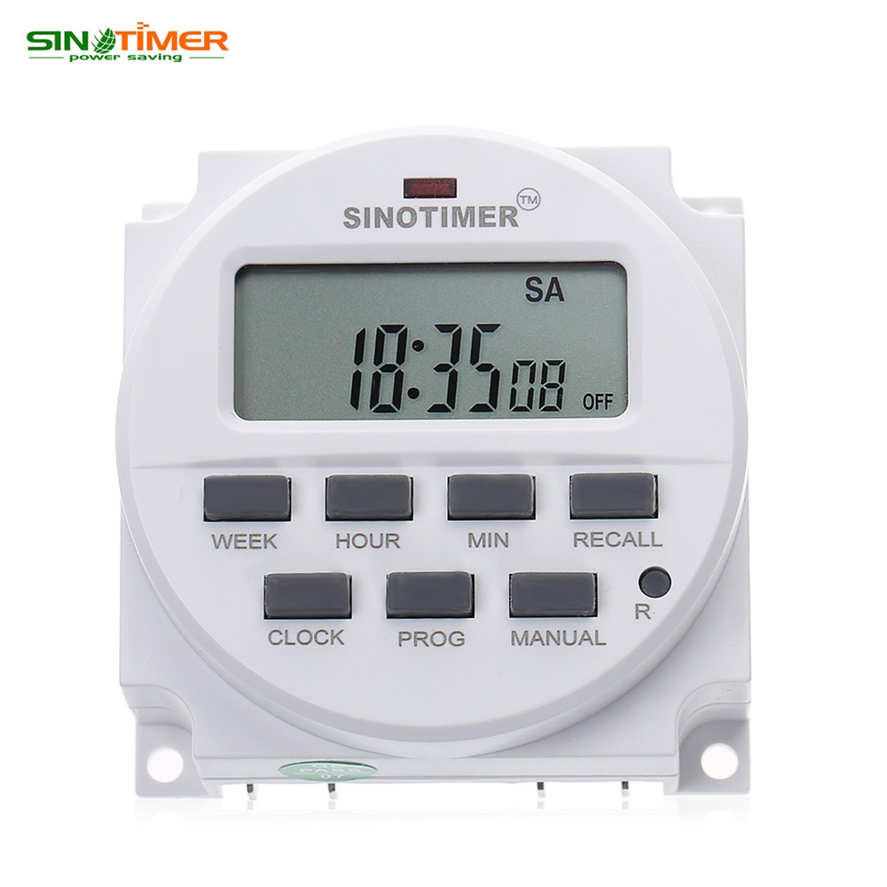 SINOTIMER 220V Control Power Timer AC Timer Switch Control 7 Days Programmable Time Relay 16A 50 / 60Hz Electric Instrument morrison grant sm ac v3 at end days