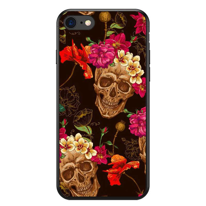 Seracase Sevimli ve Sevimli Kafatası Durumda Kapak iphone5S SE 6 6 SPlus 7 7 Artı 8 8 Artı X silikon TPU cep telefonu Kılıfları