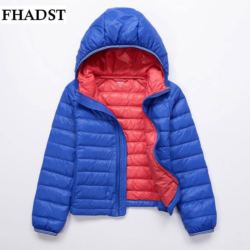 ФОТО FHADSTewest Fashion Baby Clothes Kids Girls And Boys Winter Pink Red Jacket Solid Down Parkas Zipper Hooded Children Outerwear