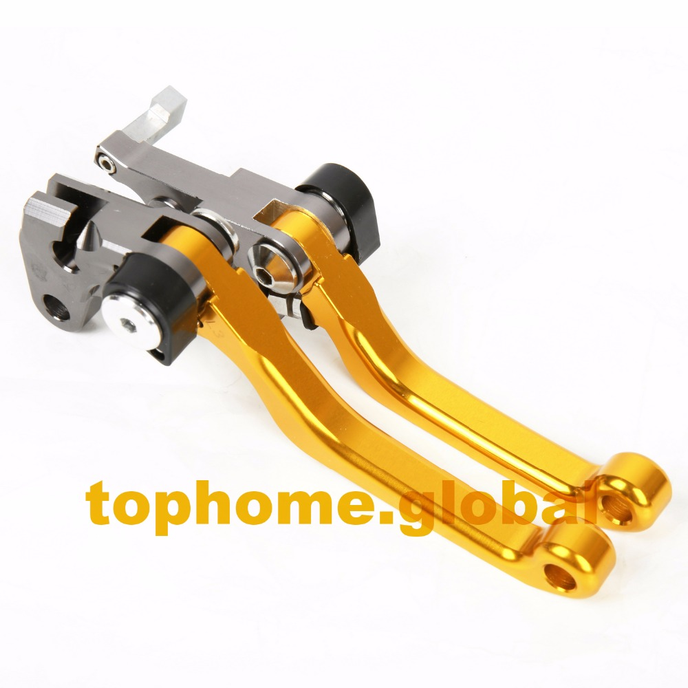 Hot One Pair CNC Pivot Dirttbike Brake Clutch Levers Golden Color  For Suzuki DRZ400S DRZ400SM 2000 2001 2002 2013 hot one pair cnc pivot dirttbike brake clutch levers for honda crf450r 2007 2015 2008 2009 2010 2011 2012 2013