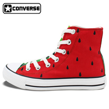 Original Design Hand Painted Shoes Converse Chuck Taylor Watermelon Girls Boys High Top Canvas Sneaker Gifts for Men Women