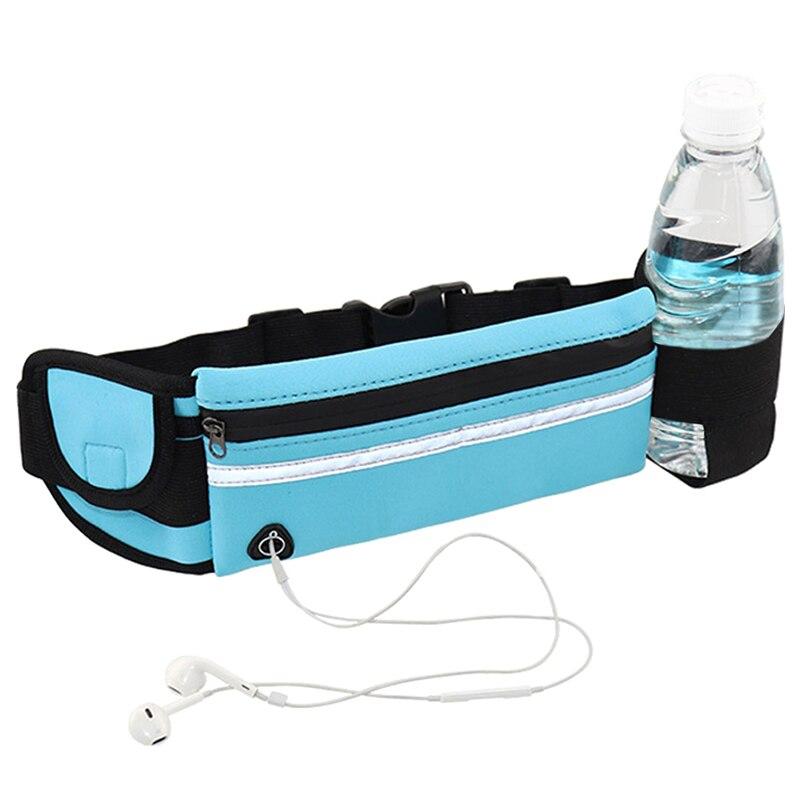 Outdoor Adjustable Waterproof Men Women Running Waist Bag Fitness Belt Pack Mobile Phone Holder Jogging Sports Water Bag