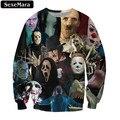 Sexemara 2017 horror avatar impresso camisola outono do vintage popular da juventude pullover gótico longo-manga solta tops casuais f1316