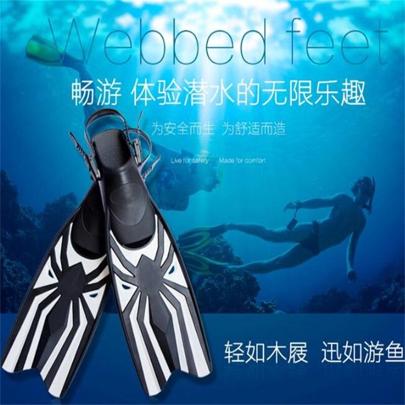 Palmes de plongée en caoutchouc professionnelles palmes d'entraînement de natation réglables palmes de haute qualité - 4