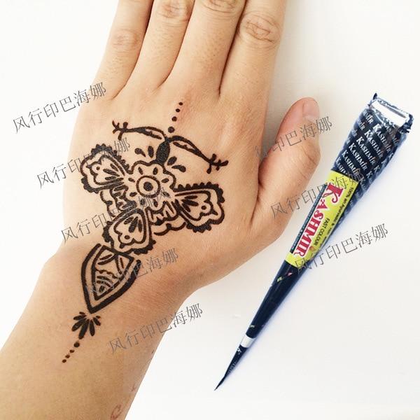 3Pcs India Kashmir Black Henna Tattoo Cream Diy Body Art -3312