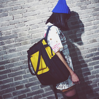 Women KoreanStyle Harajuku Ulzzang Backpack High School Student Computer School Bag Personality Canvas Leisure Simple Backpack