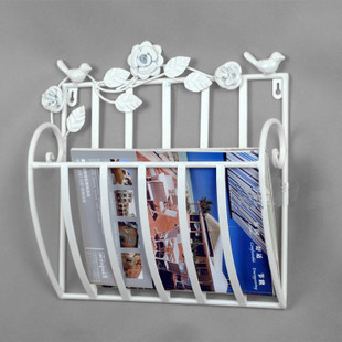 Newspaper and Magazine Rack, Wall Mount