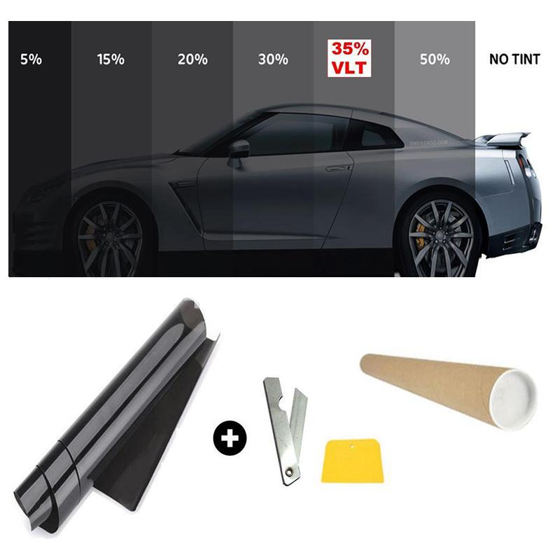 50x300CM Black Car Window Tint Film Glass VLT 5% Roll Car Auto House Commercial Solar Protection Side window Tint film Summer