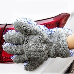 Image 3 - 30x27.5cm High Density Microfiber Car Wash Cleaner Mitt Maximum Absorbancy Glove Premium Car Cleaning Glove Car Care Detailing