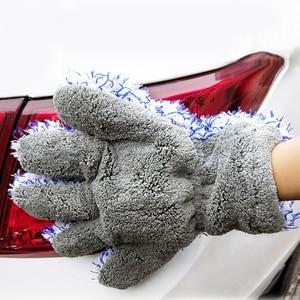 Image 3 - 30x27.5cm yüksek yoğunluklu mikrofiber araba yıkama temizleyici eldiveni maksimum emici eldiven Premium araba temizlik eldiveni araba bakımı detaylandırma