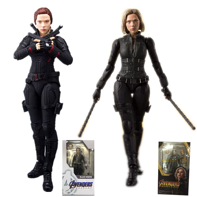 2 styles 6inch Avengers Endgame 4 Figuarts Black Widow Action Figure Model Toys Doll for Gift