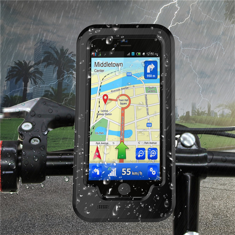 NEW hot Bike Bicycle Motorcycle Handlebar Mount Holder Waterproof Phone Case For <font><b>iPhone</b></font> 7 7plus 6 6S plus 5 5S SE phone Case