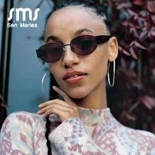 Fashion Women Steampunk Metal Oval Sunglasses Men 2019 Brand Designer Round Black Transparent Vintage Male Sun Glasses UV400