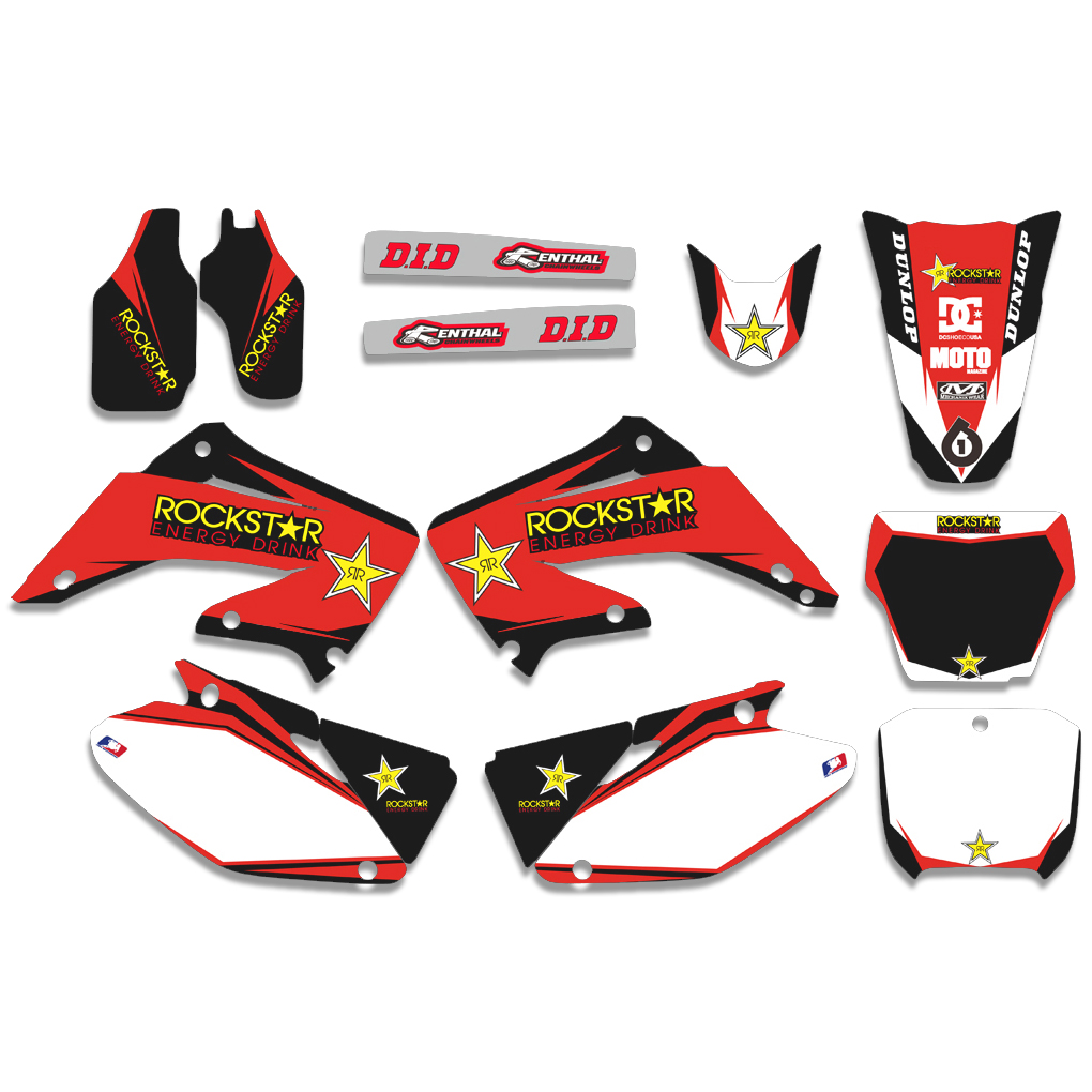 Motorcycle Graphic Decal Sticker For Honda CR125 CR250 CR125R CR250R CR 125 250 R 2002 2003 2004 2005 06 07 08 09 10 2011 2012 arashi 1 set cr125r for honda cr r 125 2002 2003 2004 2005 2006 2007 2008 cnc high grade aluminum front