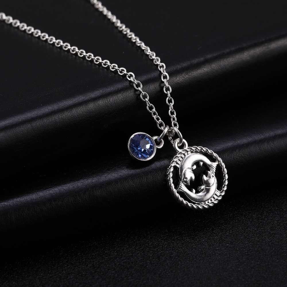 Skyrim Twelve Constellations Charm Necklace For Women/Girl 12 Zodiac