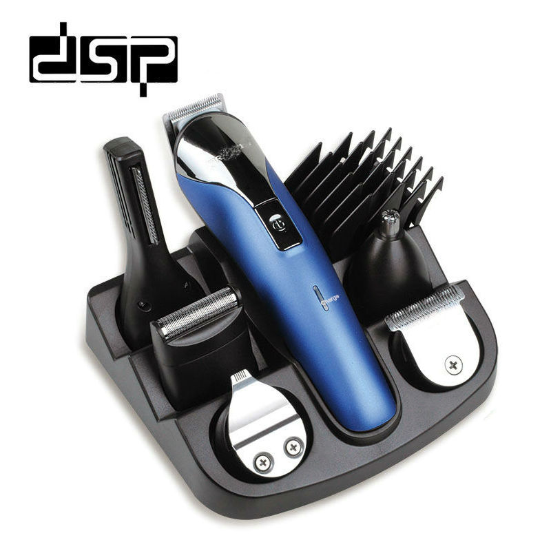 DSP 6 IN 1 Rechargeable Hair Trimmer Professional Hair Clipper for Men Electric Shaver Beard Trimmer Hair Cutting Machine цена