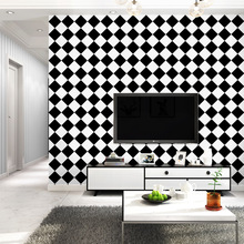 3D fashion exfoliator geometrical pattern wallpaper black white squares combination for modern living room bedroom