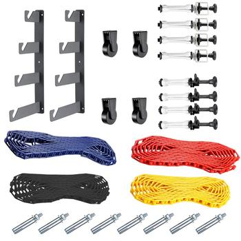 Neewer Photography 4 Roller Wall Mounting Manual Background Support System:(2)Four-fold hooks+(6)Expand bars+(4)Chains+(10)Clamp