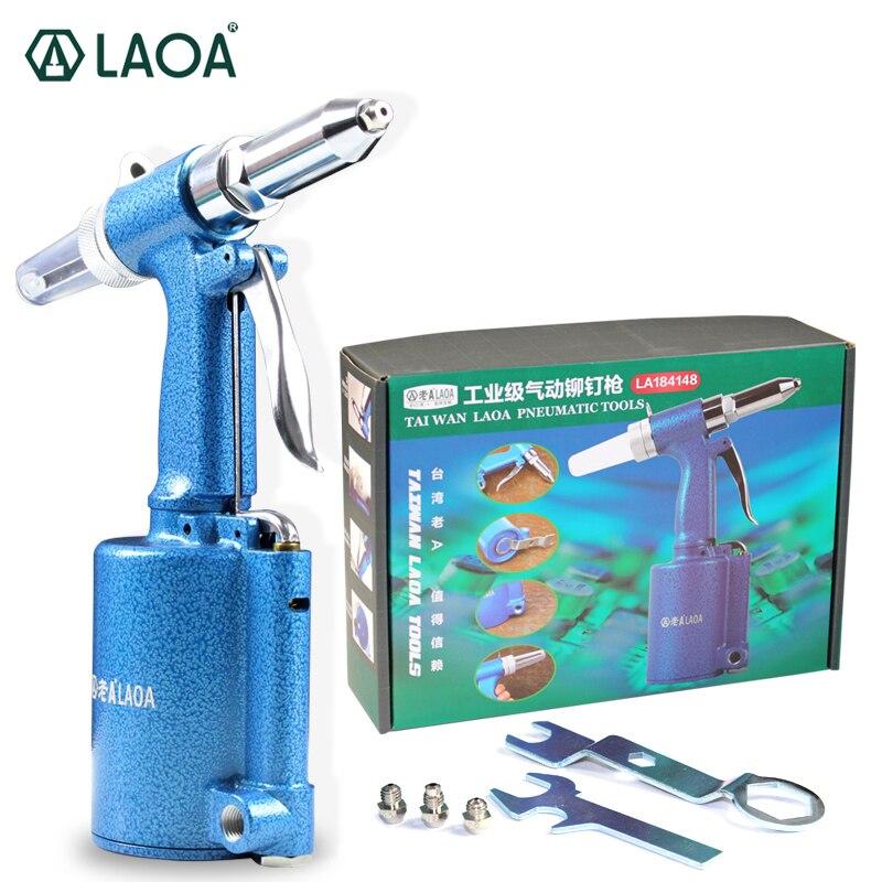 LAOA Промышленного Класса Cordless Пневматический Заклепки Пистолет Нападающий Клепальщик Пневматический Пистолет Работы способность 2.4 мм/3.2 м