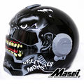 Dark Grey Giant Hulk MASEI 610 motorcycle helmet IRONMAN Iron Man helmet half helmet open face helmet casque motocross