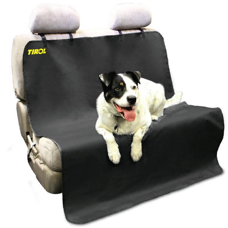 TYROL T14668a Nouvelle Voiture Retour Eau-preuve Seat Cover Pet pour Chat chien Protecteur Tapis Arrière Sécurité Voyage Noir avec Ceinture Livraison Gratuite