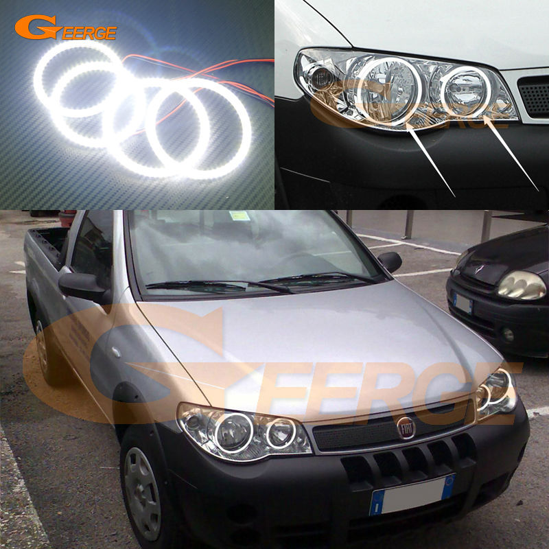 For Fiat Strada III 2006 2007 2008 2009 2010 Excellent Ultra bright illumination smd led Angel Eyes kit Halo Ring