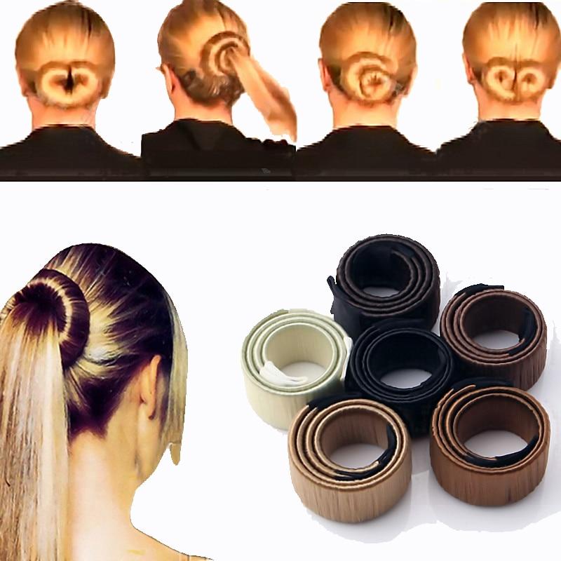 LNRRABC 1pc Women Hair Accessories Hair Curls Bun Hair Band Hair Twist Styling Synthetic Wig Braid Tools Bun Maker Drop Shipping