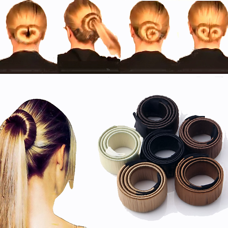LNRRABC 1db női haj kiegészítők hajcsavarok Bun haj zenekar hajcsavar Styling szintetikus paróka Braid eszközök Bun Maker Drop Shipping