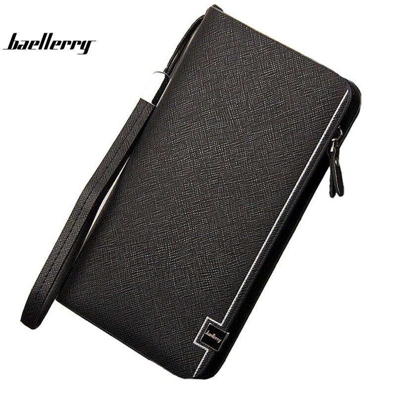 GYD Baellerry Men wallets Casual wallet men purse Big capacity Clutch bag Brand PU wallet long design men bag gift for men A0029