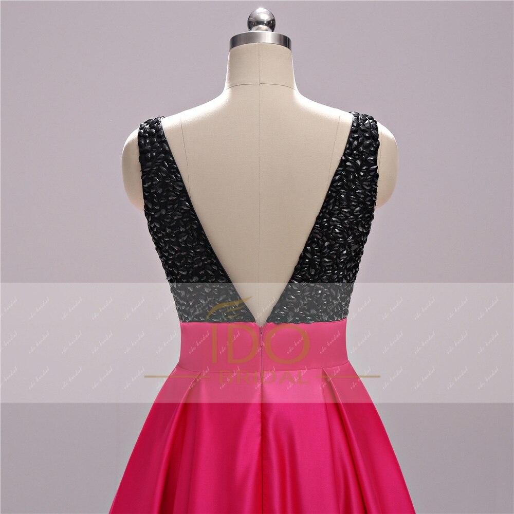 Νέα Άφιξη Μαύρο και Φούξια Φορέματα - Ειδικές φορέματα περίπτωσης - Φωτογραφία 4