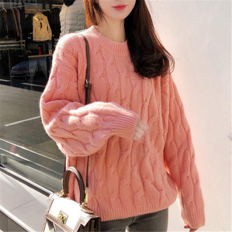 242492bc0e3 Women Sweaters Long Sleeve Twist Knitted Women s Pullovers Female Winter ...
