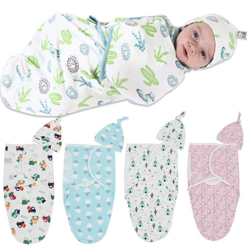 2 Pcs/set Muslin Bayi Membedung Popok 100% Kapas Bayi Baru Lahir Tipis Bayi Bungkus Amplop Swaddling Swaddleme Tidur Tas Tidur Nyenyak