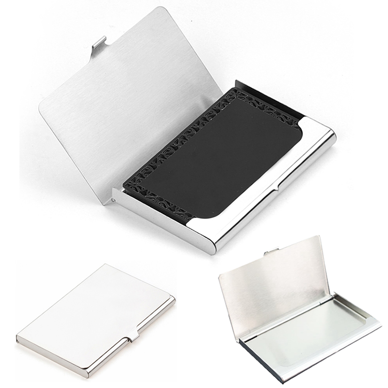 Creative Business Card Case Stainless Steel Aluminum Holder Metal Box Cover Credit Men Business Card Holder Card Metal Wallet фигурка декоративная обручальные кольца уп 12 48шт