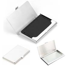 Kreatywna wizytówka koperta stal nierdzewna aluminium uchwyt metal pudełko pokrywa kredyt mężczyźni wizytówka posiadacz karty metal portfel tanie tanio Posiadacze kart IDENTYFIKATOROWYCH Metalowe 6 cm 9 3 cm Pole Hasp Mężczyzn W XZHJT RFID dama karta karta karty kredytowej okładka paszport posiadacz