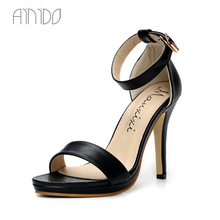 Fashion Sexy Summer Office Sandals font b women s b font shoes Solid Black White High