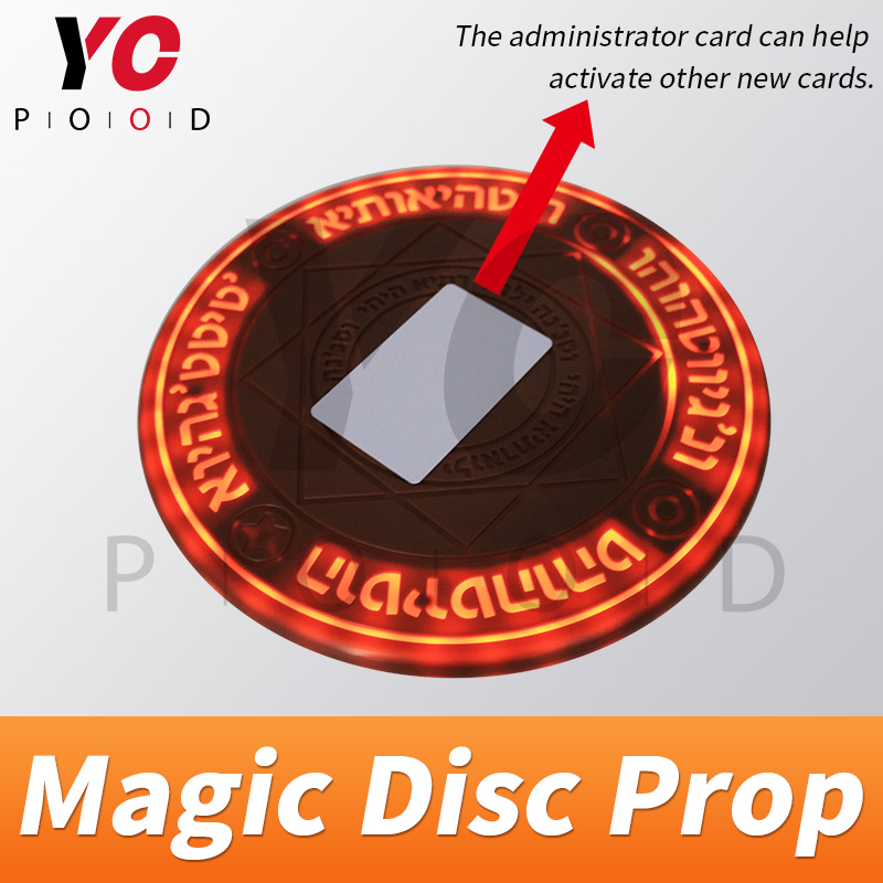 Image 4 - YOPOOD Magic Disc Prop Escape Room Real Life game use RFID card to trigger magic array be bright gradually until open takagism-in Access Control Kits from Security & Protection