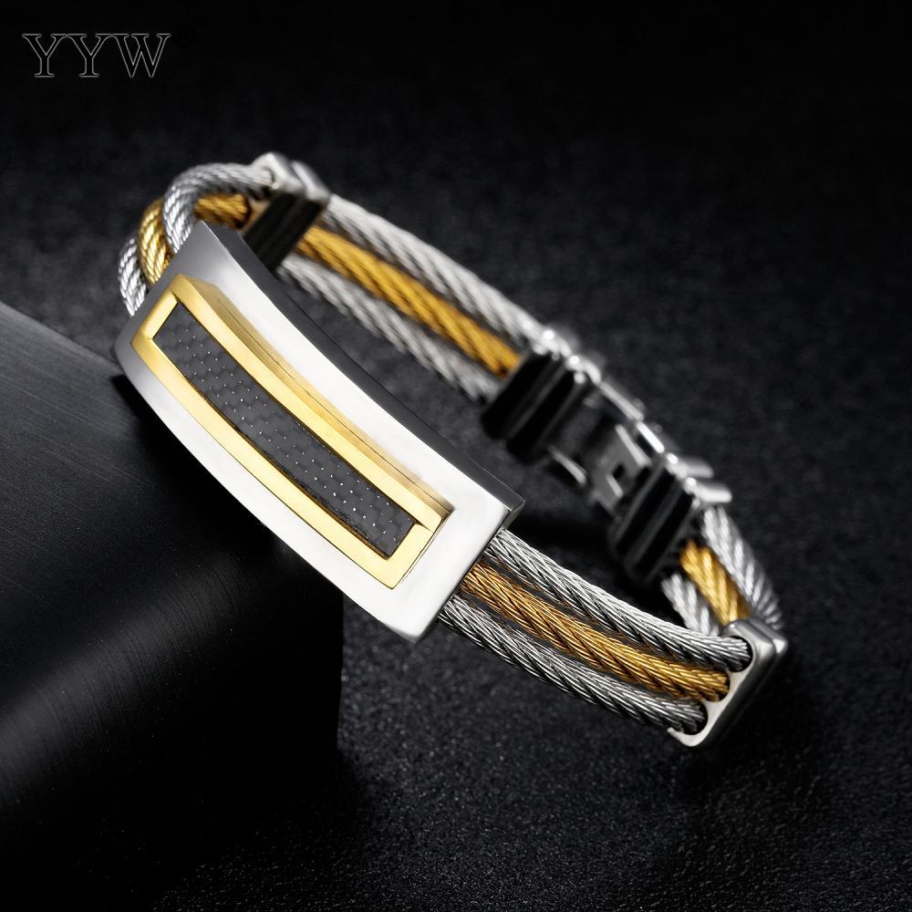 Top Quality 2017 MenS Bracelets For Men High-End Titanium Steel Plated Punk Bracelets Bangles fashion jewelry