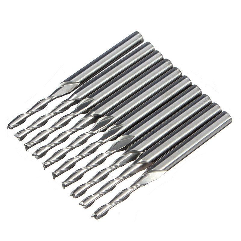 NK MIXTOS Carbide CNC Router Spiral End Mills Single Flutes Milling Cutter Spiral PVC 2 Flute End Mill Cutter электрический чайник sakura sa 2141 p