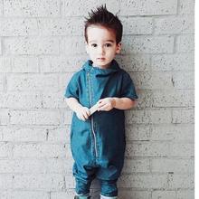 Детские комбинезоны для маленьких мальчиков длинные рукава джинсовый комбинезон модные ползунки для маленьких детей 9-12 мес. Сильвия